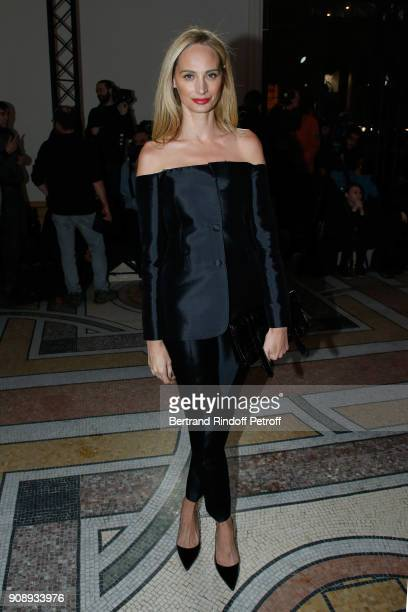 Lauren Santo Domingo attends the Giambattista Valli Haute Couture Spring Summer 2018 show as part of Paris Fashion Week on January 22 2018 in Paris...