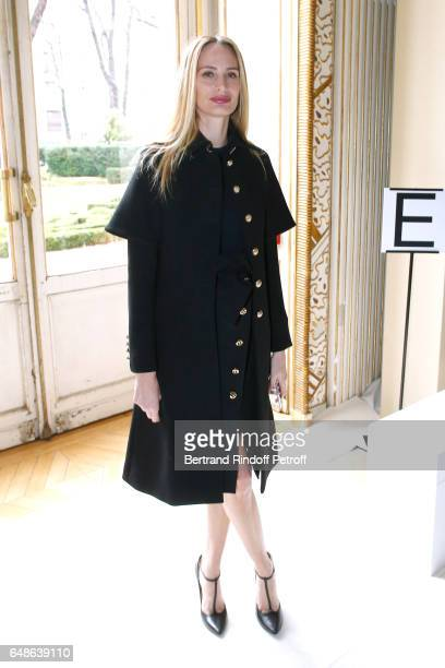 Lauren Santo Domingo attends the Giambattista Valli show as part of the Paris Fashion Week Womenswear Fall/Winter 2017/2018 on March 6 2017 in Paris...