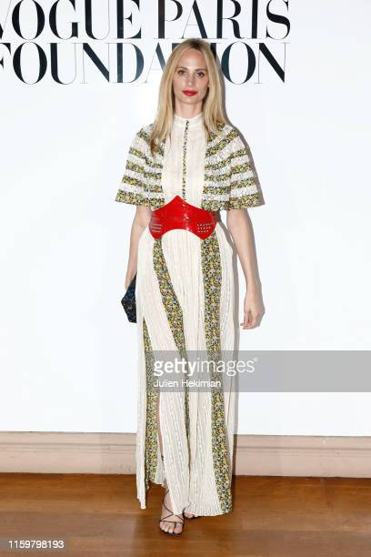 Lauren Santo Domingo attends the Vogue diner as part of Paris Fashion Week Haute Couture Fall Winter 2020 at Le Trianon on July 02 2019 in Paris...