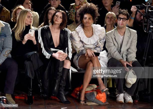 Lauren Santo Domingo Caitriona Balfe Zazie Beetz and Jack Antonoff sit front row at the Rodarte fashion show during February 2020 New York Fashion...