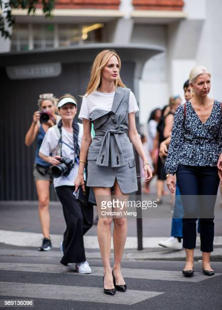 Lauren Santo Domingo is seen outside Givenchy during Paris Fashion Week Haute Couture FW18 on July 1 2018 in Paris France