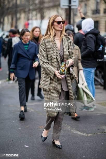 Lauren Santo Domingo is seen outside Miu Miu during Paris Fashion Week Womenswear Fall/Winter 2019/2020 on March 05 2019 in Paris France