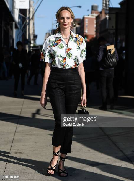 Lauren Santo Domingo is seen outside the DVF show during New York Fashion Week: Women's S/S 2018 on September 10, 2017 in New York City.