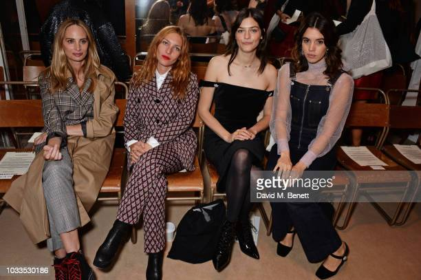 Lauren Santo Domingo Josephine de La Baume Amber Anderson and Gala Gordon attend the ALEXACHUNG LFW Show during London Fashion Week September 2018 on...