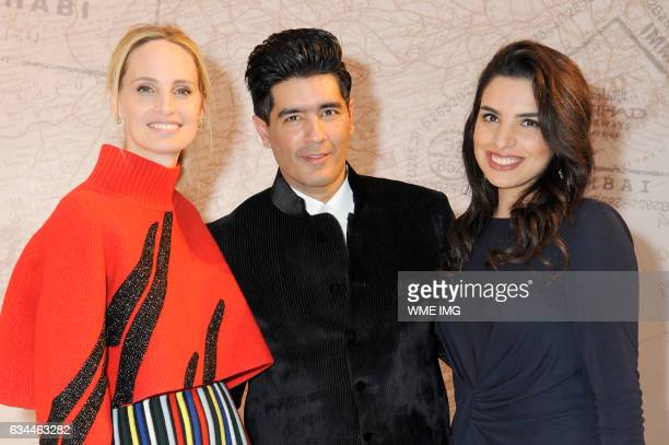 Lauren Santo Domingo Manish Malhotra and Amina Taher attend Etihad Airways Toasts New York Fashion Week 2017 at Skylight Clarkson Sq on February 9...