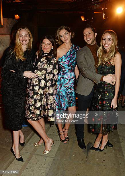 Lauren Santo Domingo Natalie Massenet Arizona Muse Derek Blasberg and Harley Viera Newton attend the Erdem x Selfridges LFW Afterpary at the Old...