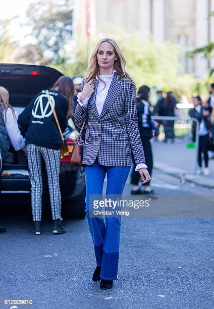 Lauren Santo Domingo outside Moncler Gamme Rouge on October 5 2016 in Paris France