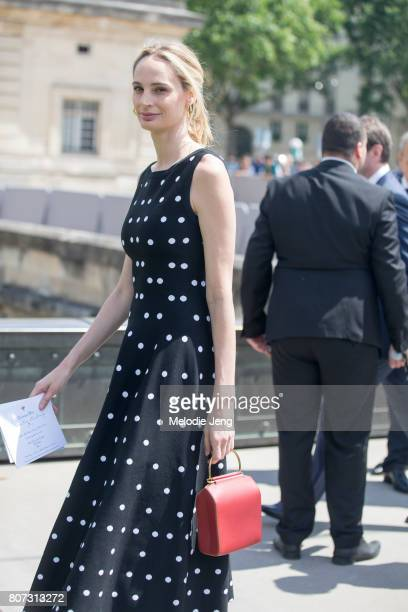 Lauren Santo Domingo outside the Dior show on July 3 2017 in Paris France