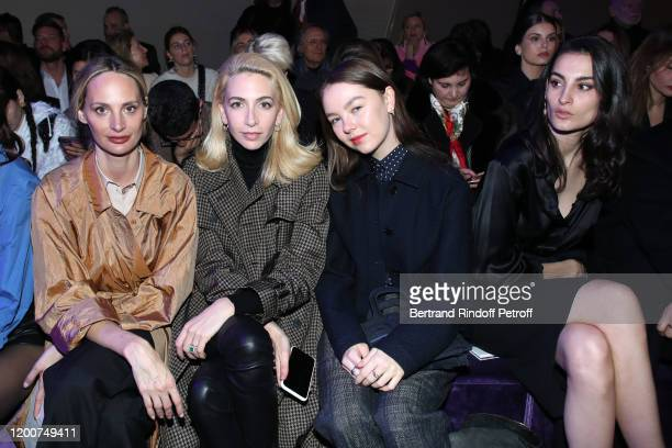Lauren Santo Domingo, Sabine Getty, Princess Alexandra of Hanover and Nine Marie d'Urso attend the Dior Haute Couture Spring/Summer 2020 show as part...