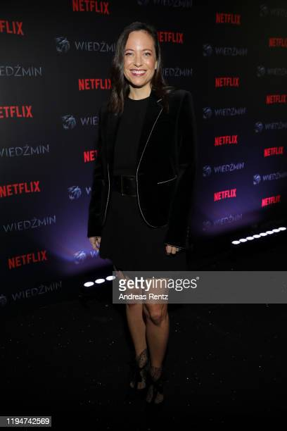 Lauren Schmidt Hissrich attends the premiere of the Netflix series The Witcher on December 18 2019 in Warsaw Poland