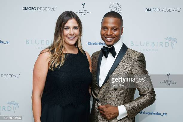 Lauren Schubert and Dante attend the Bluebird London New York City launch party at Bluebird London on September 5 2018 in New York City