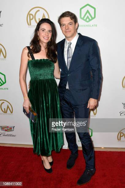 Lauren Schuker and Jason Blum attend the 30th annual Producers Guild Awards at The Beverly Hilton Hotel on January 19 2019 in Beverly Hills California