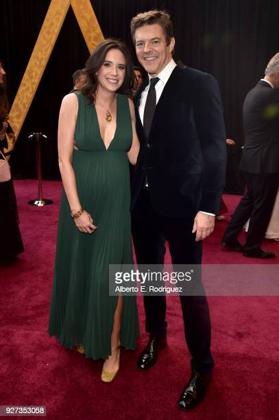 Lauren Schuker and Jason Blum attend the 90th Annual Academy Awards at Hollywood Highland Center on March 4 2018 in Hollywood California