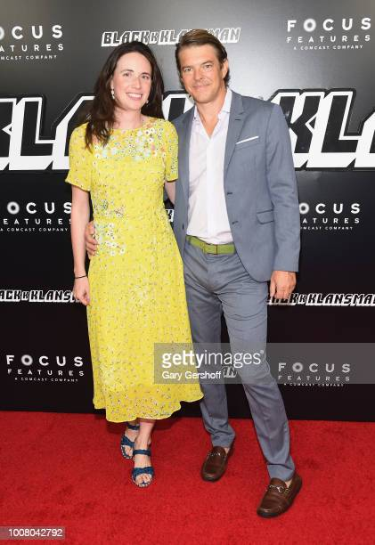 Lauren Schuker and producer Jason Blum of Blumhouse Productions attend the BlacKkKlansman New York premiere at Brooklyn Academy of Music on July 30...