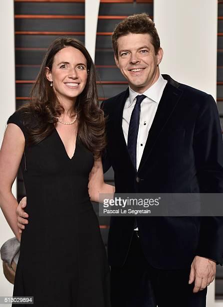 Lauren Schuker Blum and Producer Jason Blum attend the 2016 Vanity Fair Oscar Party Hosted By Graydon Carter at the Wallis Annenberg Center for the...