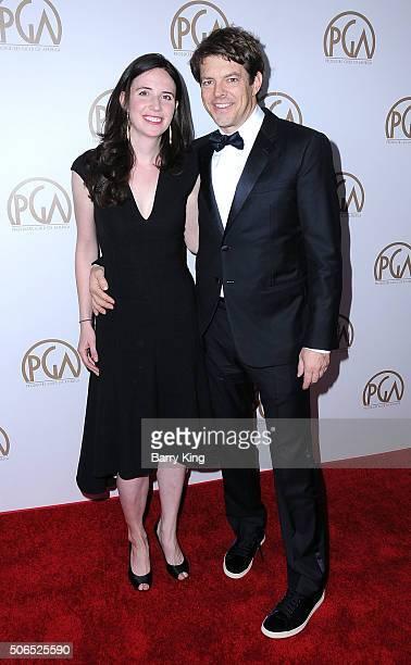 Lauren Schuker Blum and producer Jason Blum attend the 27th Annual Producers Guild Of America Awards at the Hyatt Regency Century Plaza on January 23...