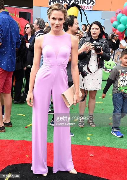 Lauren Shaw arrives at the Premiere Of Sony Pictures' 'The Angry Birds Movie' at Regency Village Theatre on May 7 2016 in Westwood California