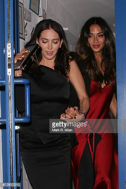 Lauren Silverman and Nicole Scherzinger at La Famiglia restaurant for Simon Cowells Birthday on October 5 2016 in London England
