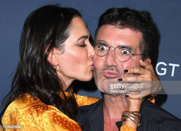 """Lauren Silverman and Simon Cowell arrives at the """"America's Got Talent"""" Season 14 Live Show Red Carpet at Dolby Theatre on September 17, 2019 in..."""