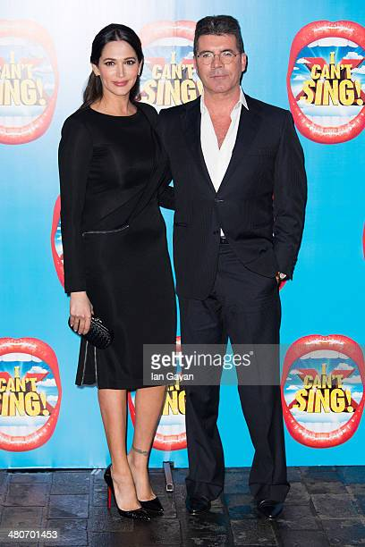 """Lauren Silverman and Simon Cowell attend the press night of """"I Can't Sing! The X Factor Musical"""" at London Palladium on March 26, 2014 in London,..."""