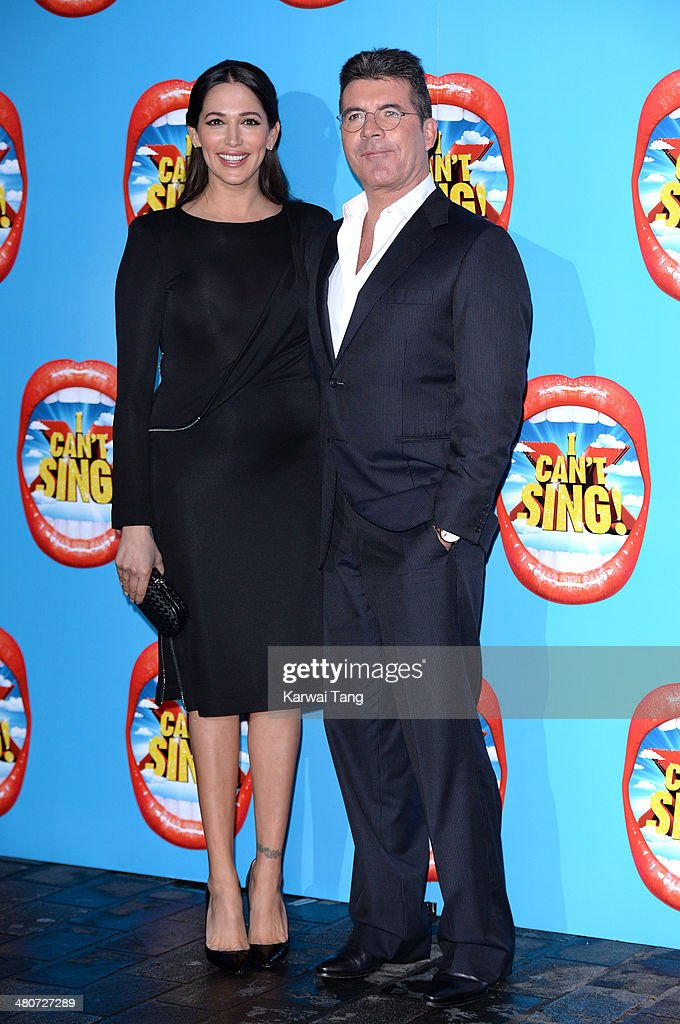 Lauren Silverman and Simon Cowell attend the press night of 'I Can't Sing! The X Factor Musical' at London Palladium on March 26, 2014 in London, England.
