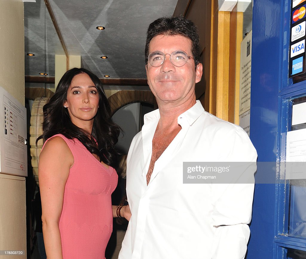 Simon Cowell and Lauren Silverman Sighting In London - August 28, 2013 : News Photo
