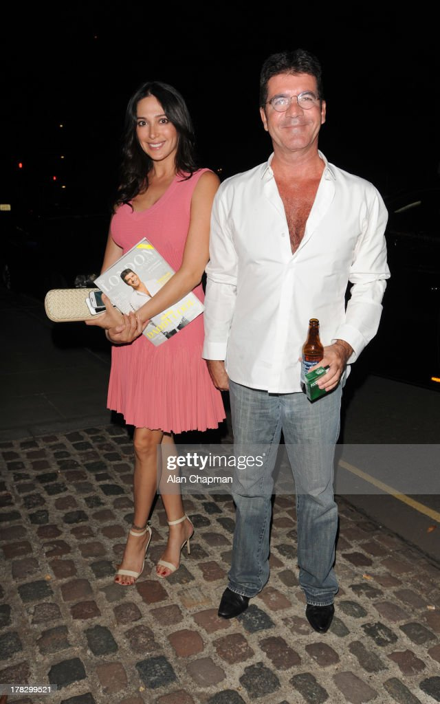 Lauren Silverman and Simon Cowell sighting in Kensington on August 28, 2013 in London, England.