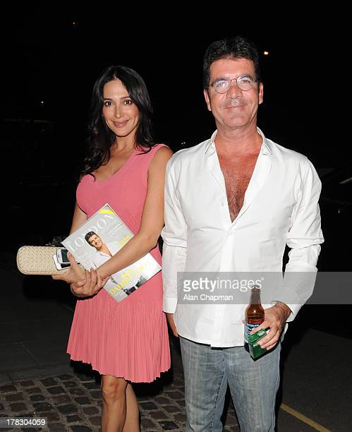Lauren Silverman and Simon Cowell sighting in Kensington on August 28 2013 in London England