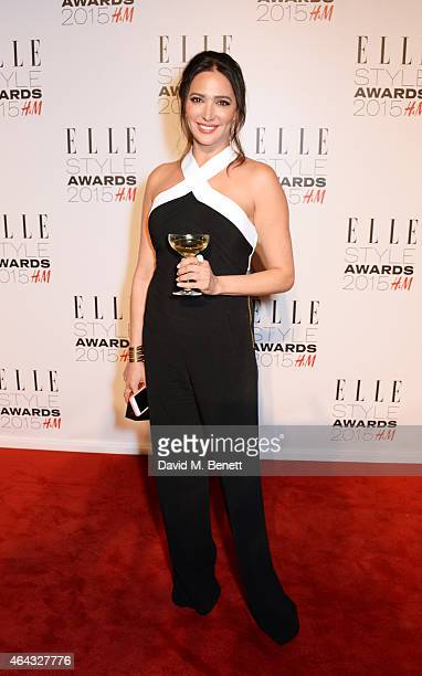 Lauren Silverman poses in the Winners Room at the Elle Style Awards 2015 at Sky Garden @ The Walkie Talkie Tower on February 24 2015 in London England