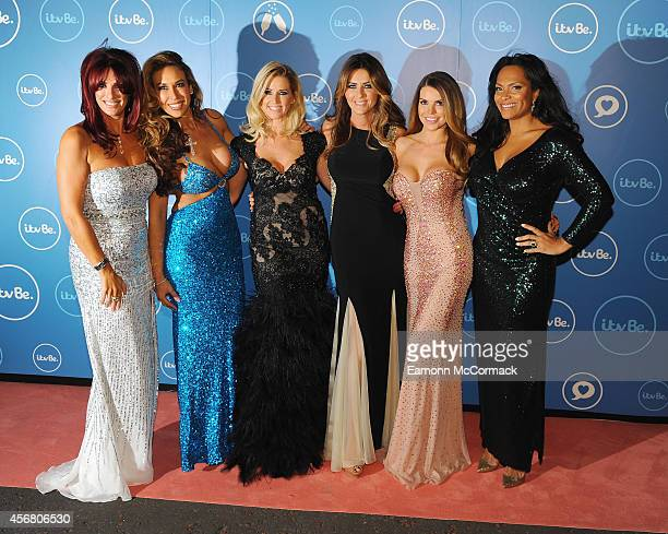 Lauren Simon Ampicka Pickston Leanne Brown Dawn Ward Tany Bardsley and Magali Gorre of The Real Housewives of Cheshire attend the ITV BE launch at...