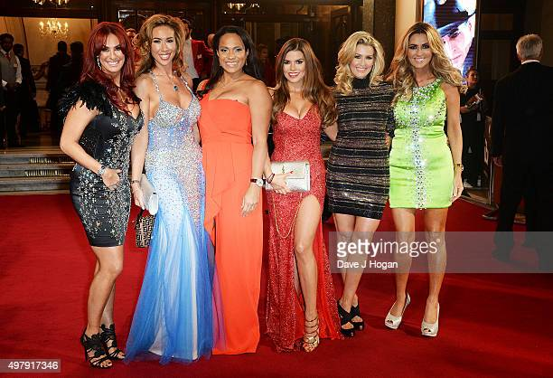 "Lauren Simon, Ampika Pickston, Magali Gorre, Tanya Bardsley, Leanne Brown, Dawn Ward of ""Real Housewives of Chesire"" attend the ITV Gala at London..."