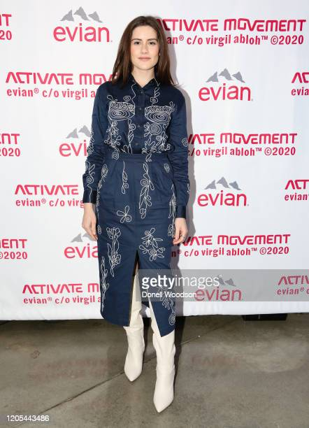 Lauren Singer attends the Evian Virgil Abloh Collaboration party at Milk Studios on February 10 2020 in New York City