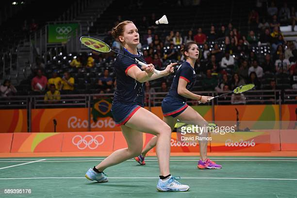 Lauren Smith and Heather Olver of Great Britain compete against Ying Suet Tse and Yan Poon Lok of Hong Kong compete against Stefani Stoeva and...