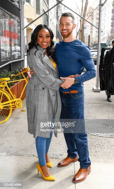 Lauren Speed and Cameron Hamilton are seen in midtown on March 3 2020 in New York City