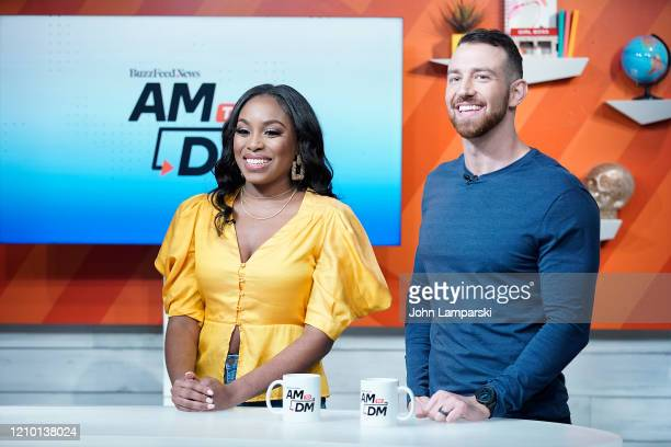 Lauren Speed and Cameron Hamilton visit BuzzFeed's AM To DM on March 03 2020 in New York City