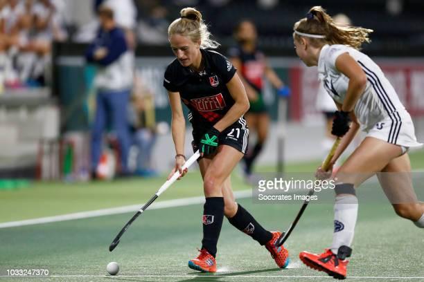 Lauren Stam of Amsterdam Dames 1 during the Hoofdklasse Women match between Amsterdam v Pinoke at the Wagener Stadium on September 14 2018 in...