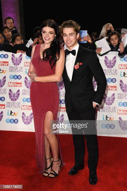 Lauren Steadman and AJ Pritchard attend the Pride of Britain Awards 2018 at The Grosvenor House Hotel on October 29 2018 in London England