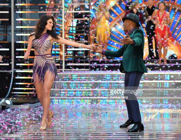 Lauren Steadman and Danny John-Jules attend the red carpet launch for 'Strictly Come Dancing 2018' at Old Broadcasting House on August 27, 2018 in...