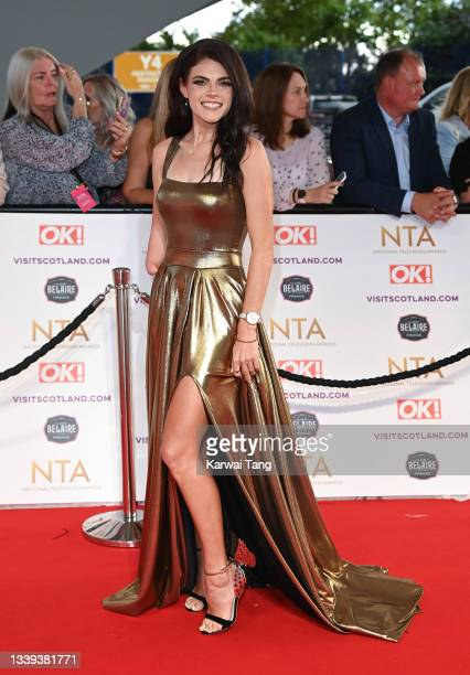 Lauren Steadman attends the National Television Awards 2021 at The O2 Arena on September 09, 2021 in London, England.