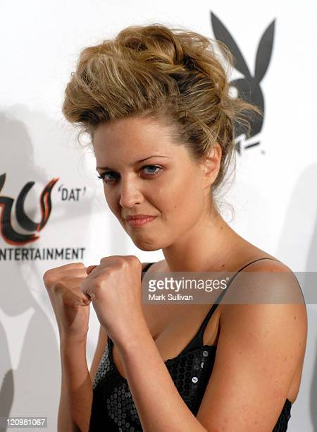 Lauren Storm during Fight Night at the Playboy Mansion Arrivals at Playboy Mansion in Holmby Hills California United States