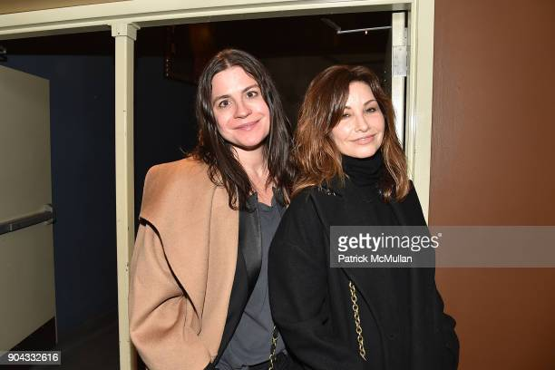 Lauren Tabach and Gina Gershon attend The Cinema Society Bluemercury host the premiere of IFC Films' 'Freak Show' at Landmark Sunshine Cinema on...