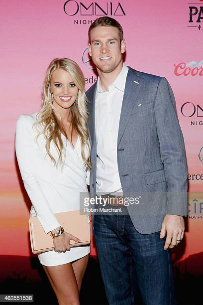 Lauren Tannehill and NFL player Ryan Tannehill attend ESPN the Party at WestWorld of Scottsdale on January 30 2015 in Scottsdale Arizona