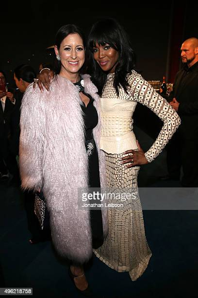 Lauren Taschen and model Naomi Campbell attend LACMA 2015 Art+Film Gala Honoring James Turrell and Alejandro G Iñárritu, Presented by Gucci at LACMA...