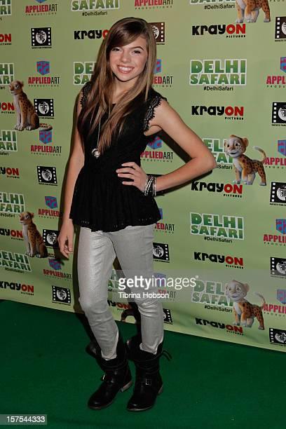 Lauren Taveras attends the Delhi Safari Los Angeles premiere at Pacific Theatre at The Grove on December 3 2012 in Los Angeles California