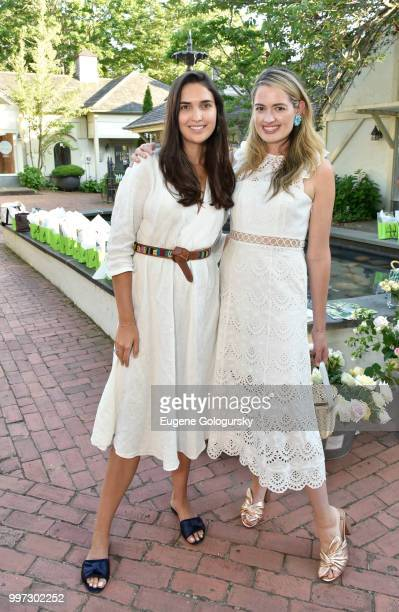 Lauren Taylor and Sarah Bray attend the Modern Luxury Sam Edelman Summer Fashion Event on July 12 2018 in Southampton New York