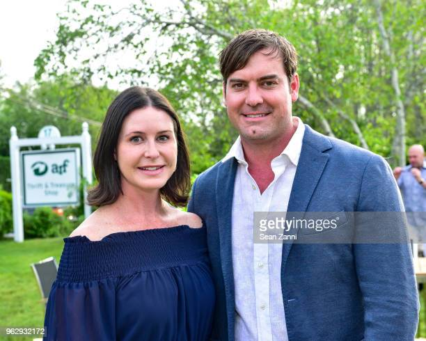 Lauren Thayer and Dr Elliot Weiss attend ARF Thrift Shop Designer Show House Sale at ARF Thrift Treasure Shop on May 26 2018 in Sagaponack New York
