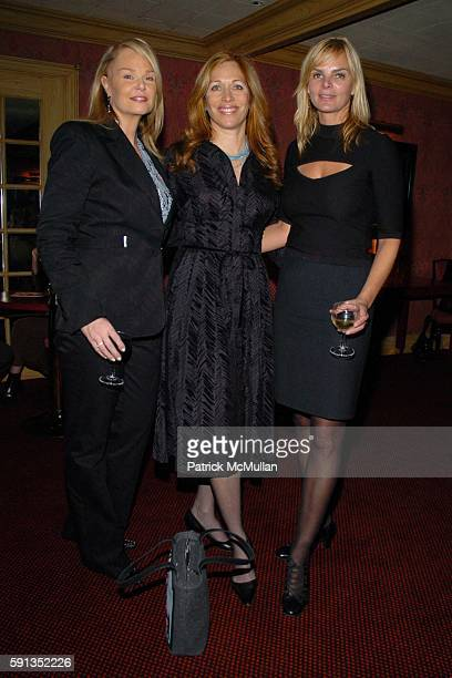 Lauren Thierry Jill Brooke and Cecilia Rodhe Noah attend Launch of La Nuit des Etoiles Festival Dinner for French Institute Alliance Francaise to...