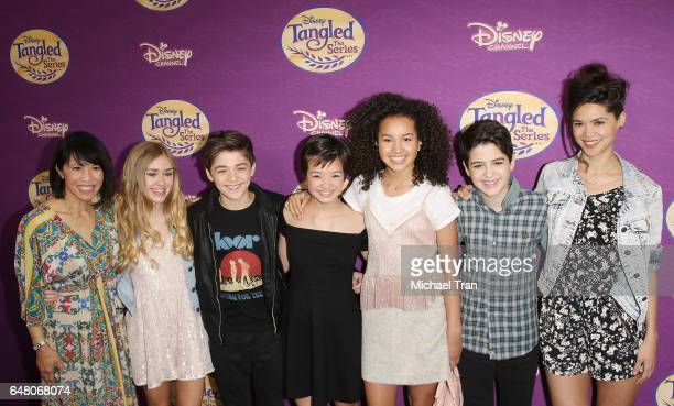 Lauren Tom Emily Skinner Asher Angel Peyton Elizabeth Lee Sofia Wylie Joshua Rush and Lilan Bowden arrive at Disney's Tangled Before Ever After held...