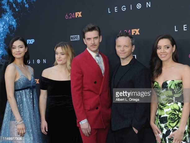 Lauren Tsai Rachel Keller Dan Stevens Noah Hawley and Aubrey Plaza arrive for the LA Premiere Of FX's Legion Season 3 held at ArcLight Hollywood on...