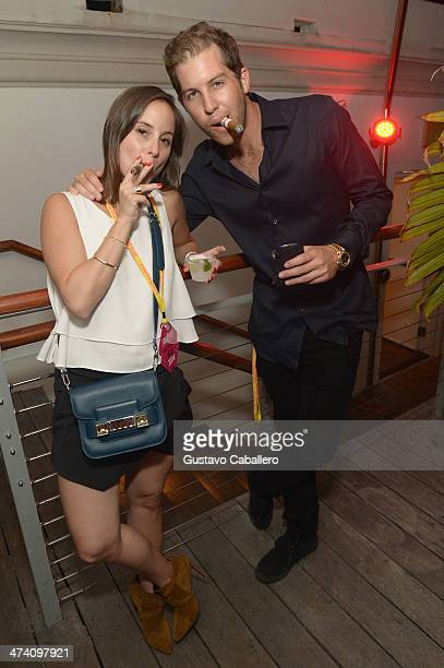 Lauren Turchin and David Chaplin attend Cigars Spirits Presented By Montage Hotels Resorts Brought To You By Cigar Aficionado And Whisky Advocate...